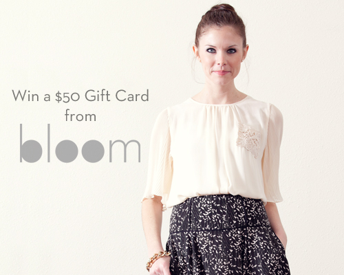 5470767982984d To say thank you for the sweet response to Bloom s online launch this week