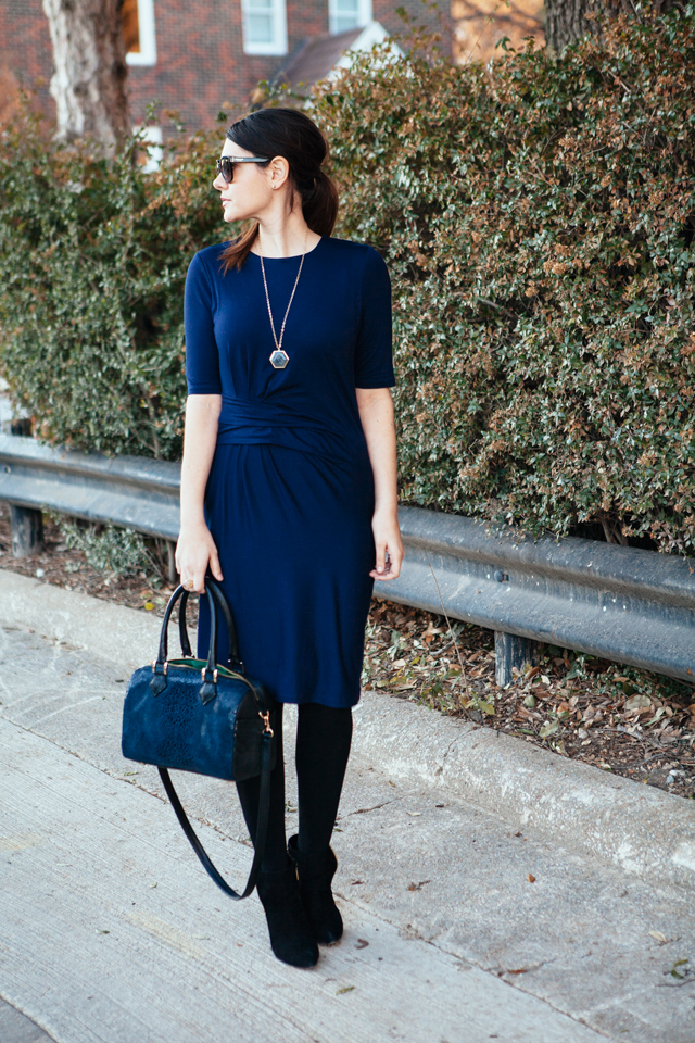 Navy and black used to be a fashion taboo (just ask my mother) but mixing them became trendy a few years ago. Now it's perfectly fine. I think black and brown went through a similar change recently.