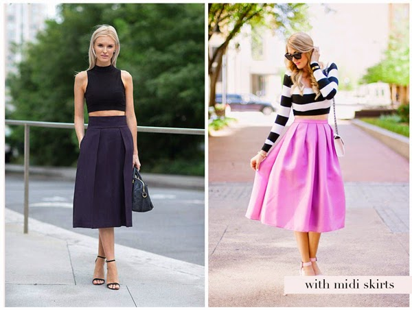 Crop top and high skirt – Modern skirts blog for you