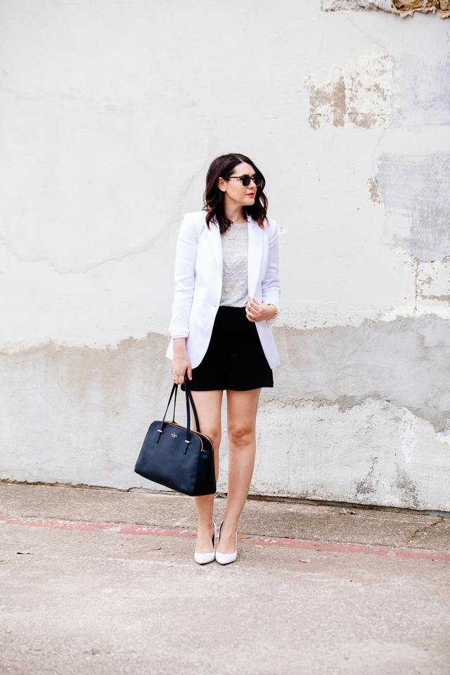 kendi everyday white blazer