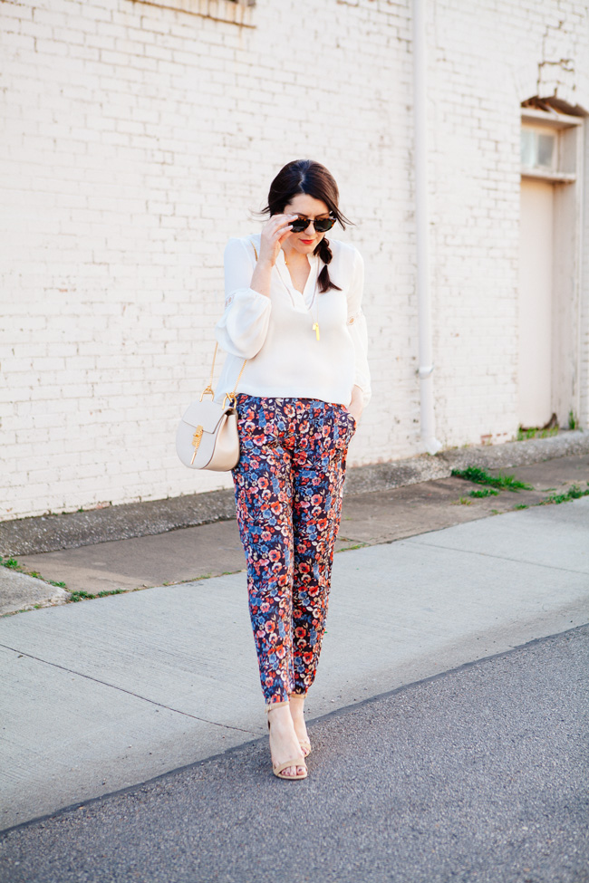 how to wear floral pants 2016