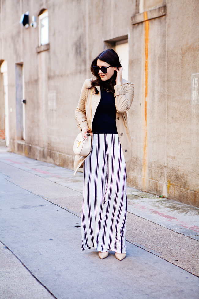 wide leg striped pants by style blogger kendi everyday.