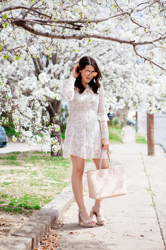 floral spring dress from style blogger kendi everyday.