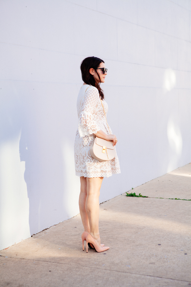Eliza J. bell sleeve dress from style blogger Kendi Everyday.