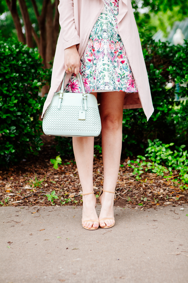 Floral Dress and Pink Trench on Kendi Everyday