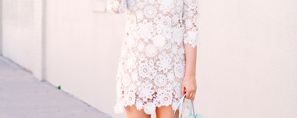 Layered Lace Dress and mint accessories on Kendi Everyday