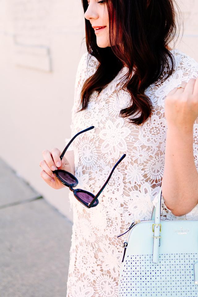 Layered Lace Dress on Kendi Everyday