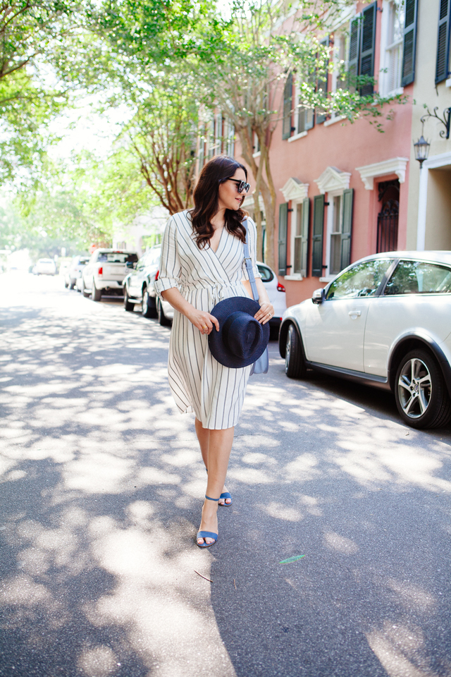 Striped Midi Dress on Kendi Everyday
