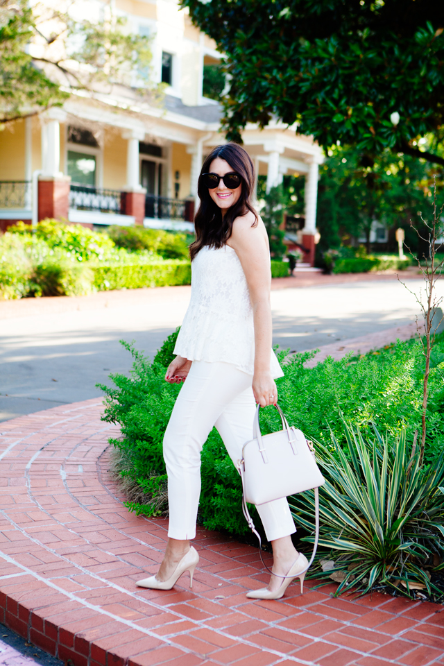 Lace Peplum Top on Kendi Everyday