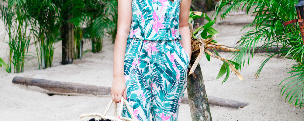 Vacation Style: Old Navy Print Romper