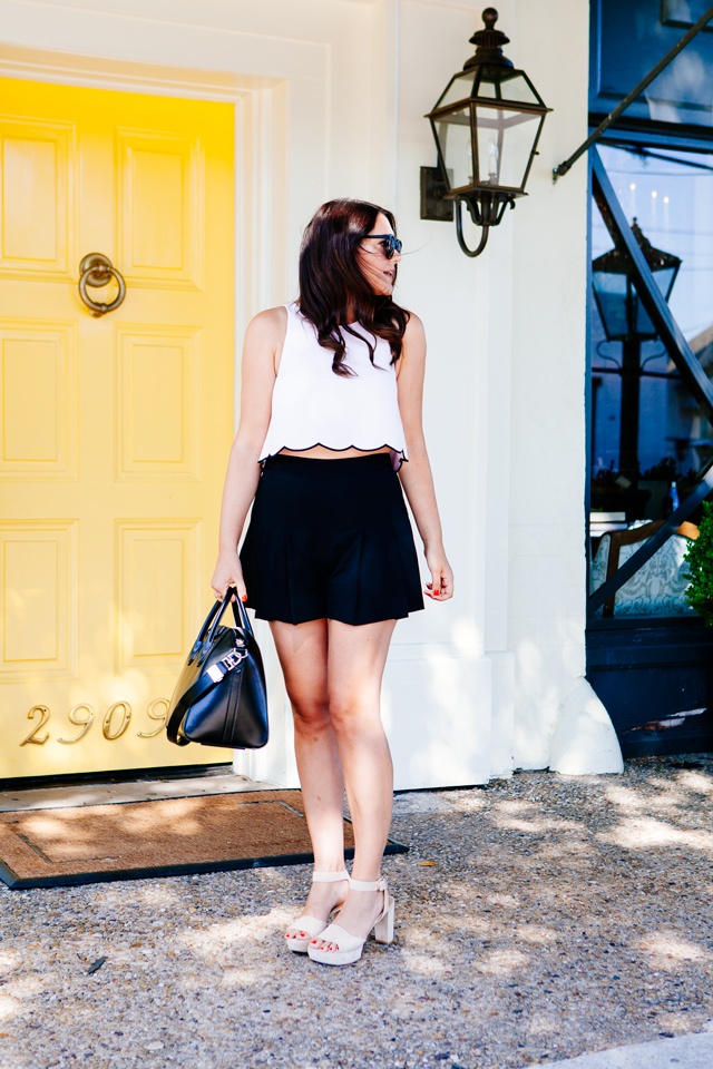 Scallop Hem Crop Top and Highwaisted Shorts on Kendi Everyday