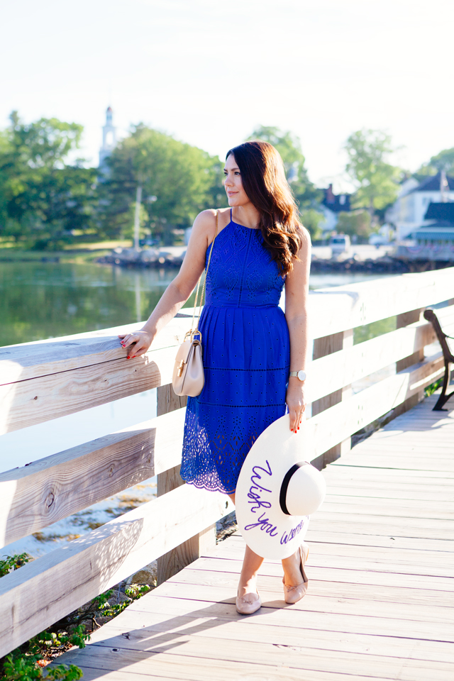 Bright Blue Dress on Kendi Everyday