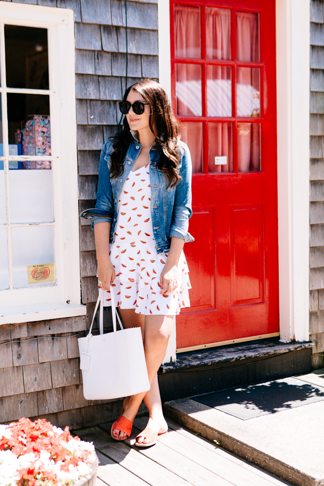 Watermelon print dress on Kendi Everyday