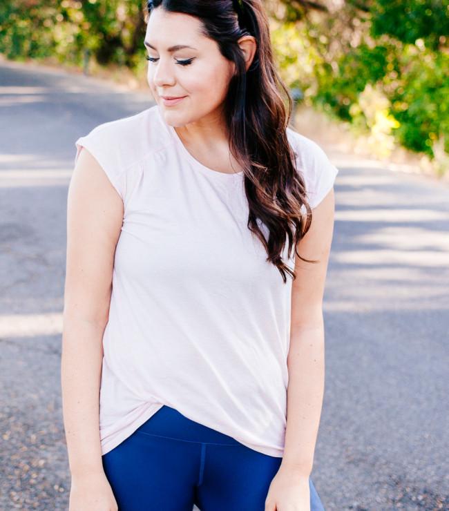 Kendi Everyday wearing Zella workout wear.