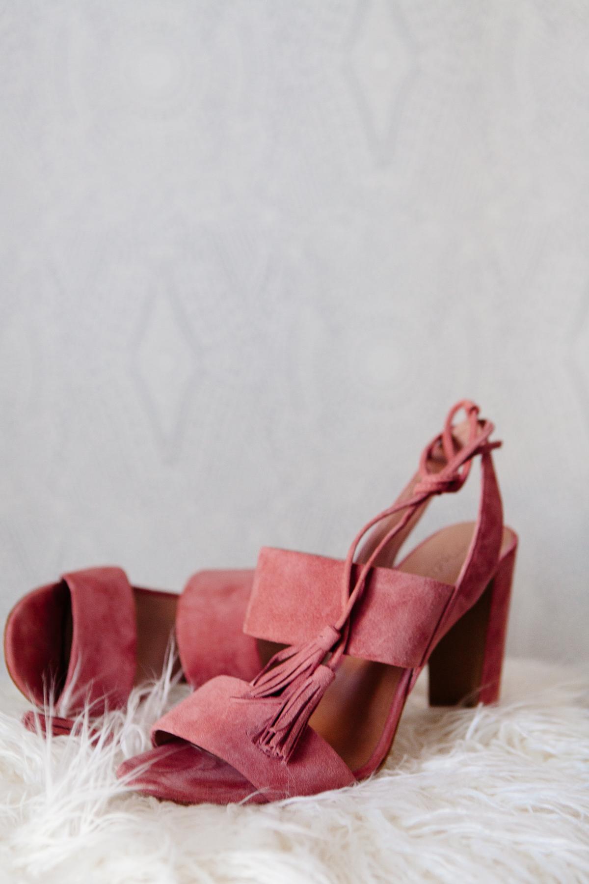 Madewell Pink Tasseled heels