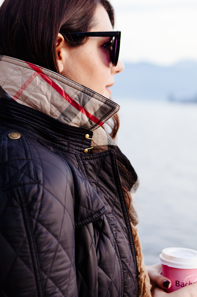 Burberry scarf and quilted jacket on Kendi Everyday