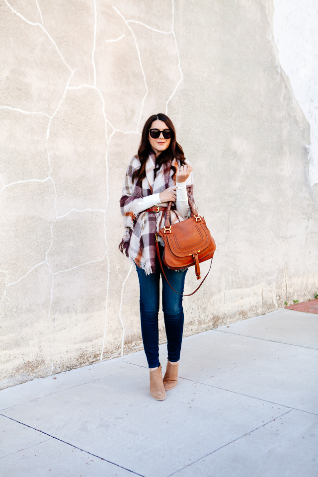 Plaid Wrap belted on Kendi Everyday