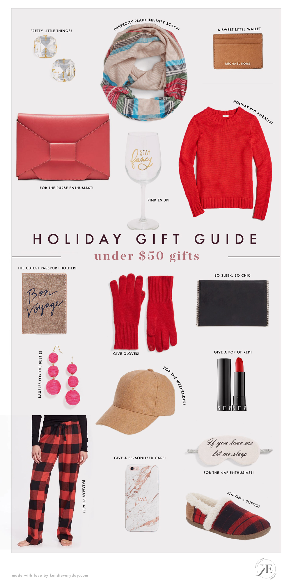 Holiday Gift Guide Under 50 Gift Ideas Kendi Everyday
