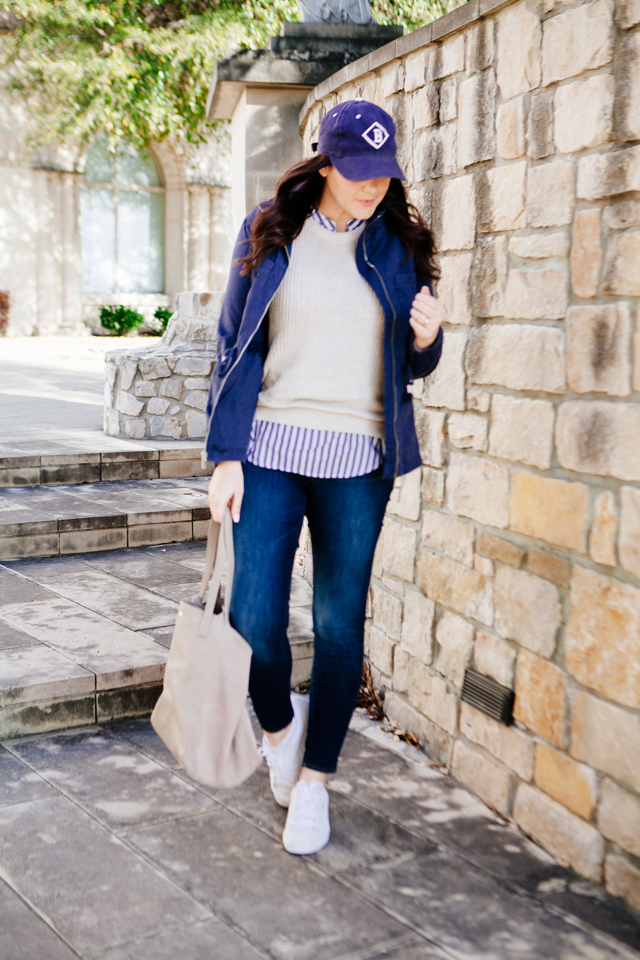 Old Navy spring layers perfect for the weekend, on Kendi Every day