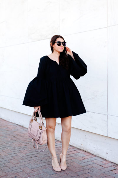 MLM Label Bell Sleeve Black Dress on Kendi Everyday