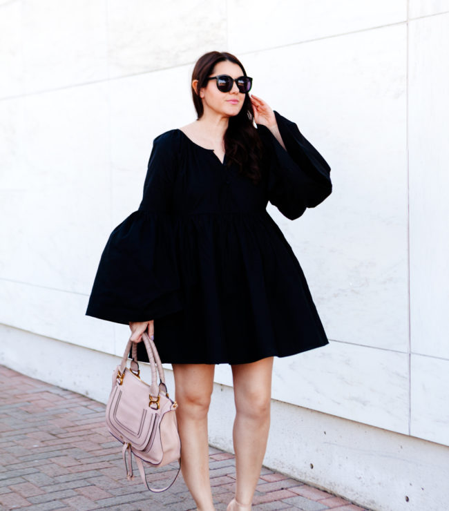MLM Label Bell Sleeve Black Dress on Kendi Everyday