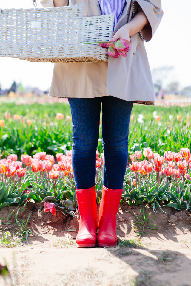 Spring rain boots by Sorel. Texas Tulip Farm.
