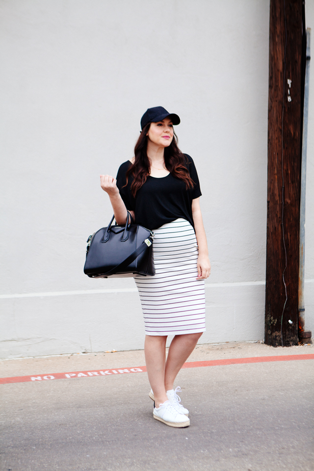 Weekday to Weekend: Striped Pencil Skirt