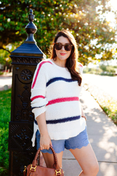 Striped sweater for summer