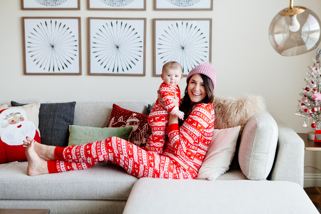 e06746b3e3 The thing is I ordered us matching Christmas pajamas because I am exactly  who you think I am. I always wondered what kind of mom I d be and as it  turns out ...