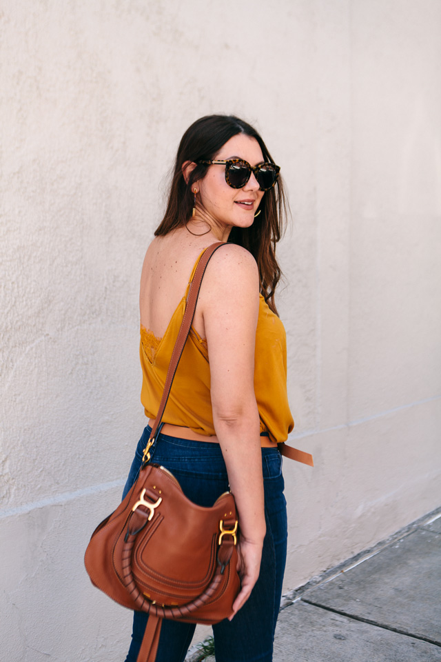 free people camisole bauble bar tansiana earrings mott bow jeans 13 - Colour Crush: Mustard Yellow
