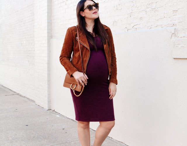 Fall Outfit Ideas: Plum and Suede